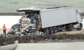A truck moves rubbish from the Naples area inside a dump in Savignano Irpino on June 16 2008 The site at Savignano Irpino some 100 kilometres...