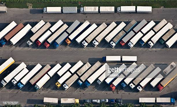 Truck parking place from above