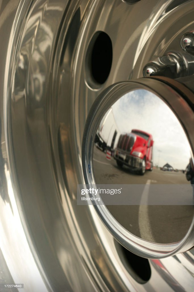Truck Reflection In Chrome