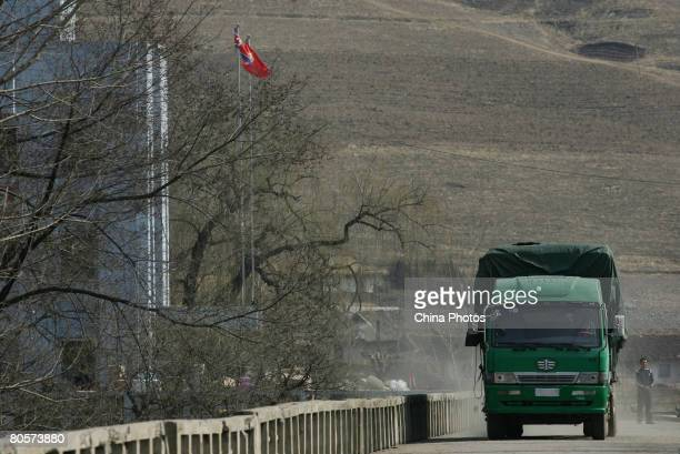 A truck runs on a bridge on the ChinaNorth Korea border on April 8 2008 in Linjiang of Jilin Province China Linjiang Linjiang is situated at the...