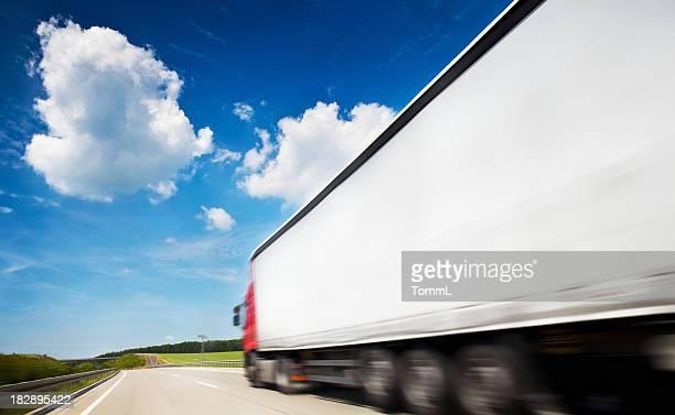 Truck Speeding On Highway