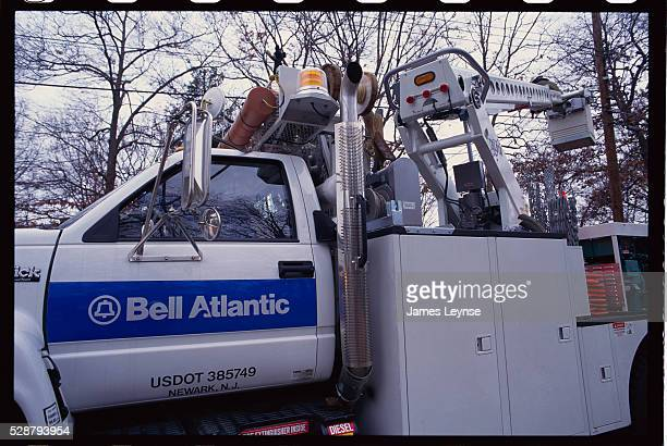A truck used for the Bell Atlantic project to install fiber optic cable and provide video dial tone | Location Dover New Jersey USA