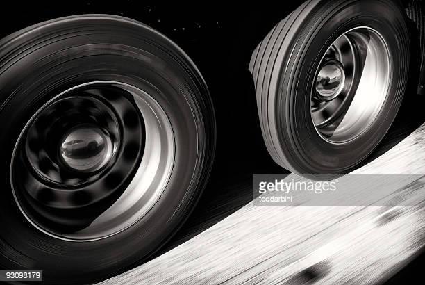 Camion voiture en mouvement