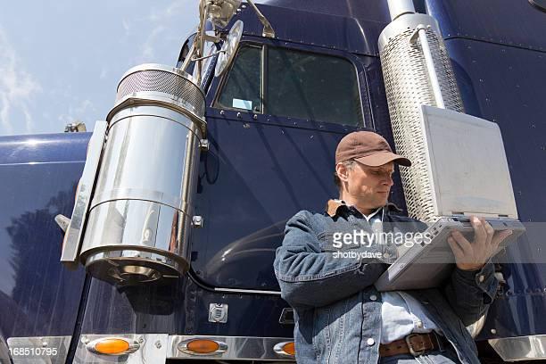 Trucker und Computer
