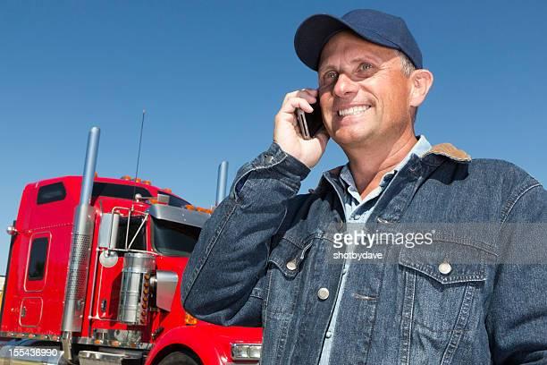 Trucker und Smartphone