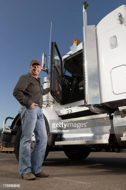 Trucker at a Truckstop