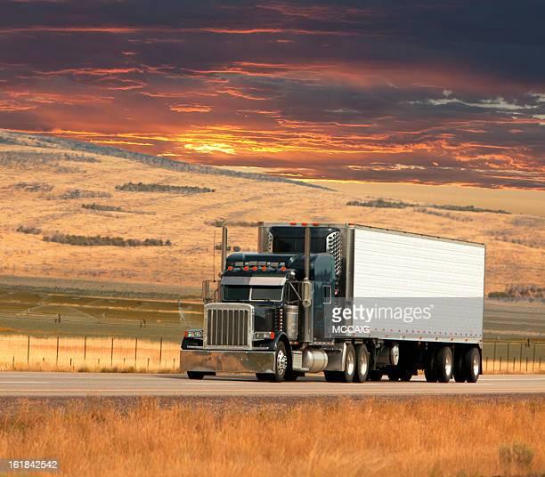 trucker-Sonnenuntergang
