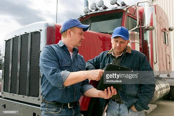 Truckers und Tablet