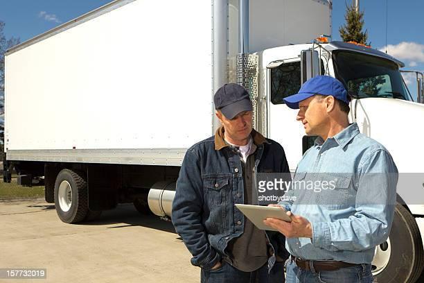Transport de marchandises par route et tablette