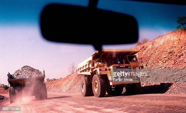 Trucks carrying uranium at the Ranger Mine in the Northern Territory 7 January 2000 AFR Picture by TAMARA VONINSKI