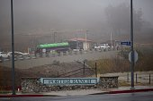 Trucks enter the gates of Southern California Gas Company property where Aliso Canyon Storage Field is located as people continue to be affected by a...