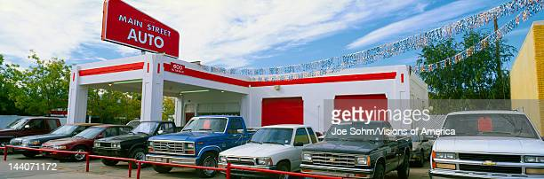 Trucks in used car lot Roswell New Mexico