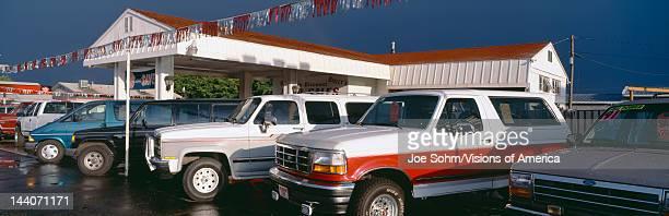 Trucks in used car lot St George Utah