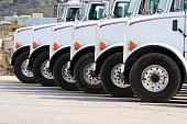 Trucks Lined Up