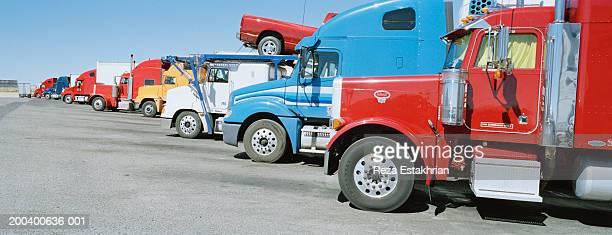 Trucks on parking lot