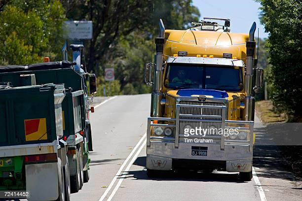Trucks on the Great Western Highway from Sydney to Adelaide New South Wales Australia