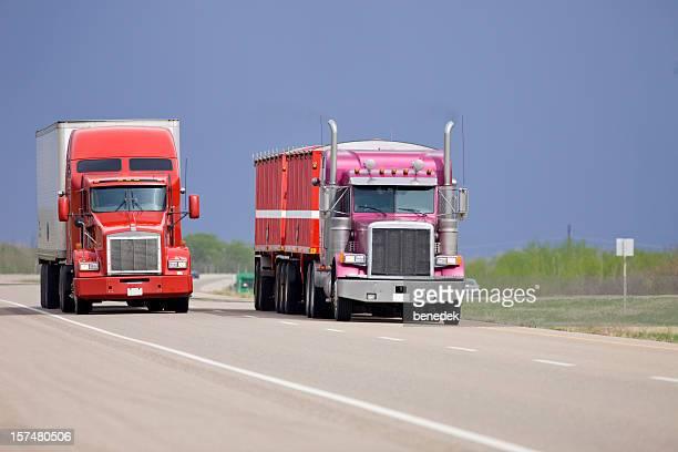 LKW Fahren Sie auf dem Freeway