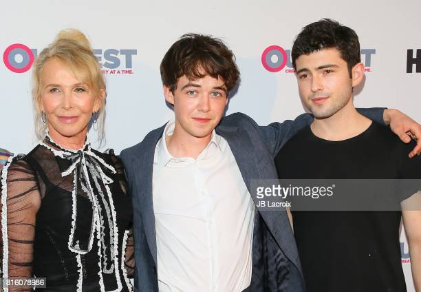 Trudie Styler Alex Lawther and Ian Nelson attend the 2017 Outfest Los Angeles LGBT Film Festival Closing Night Gala Screening Of ''Freak Show' on...