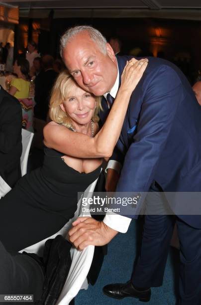 Trudie Styler and Charles Finch attend The 9th Annual Filmmakers Dinner hosted by Charles Finch and JaegerLeCoultre at Hotel du CapEdenRoc on May 19...