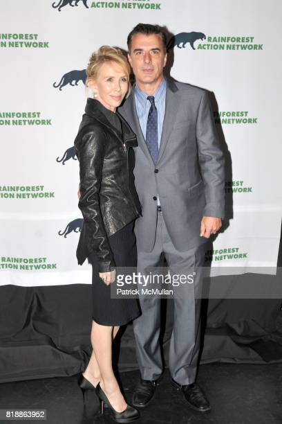 Trudie Styler and Chris Noth attend RAINFOREST ACTION NETWORK's 25th Anniversary Benefit Hosted by CHRIS NOTH at Le Poisson Rouge on April 29 2010 in...