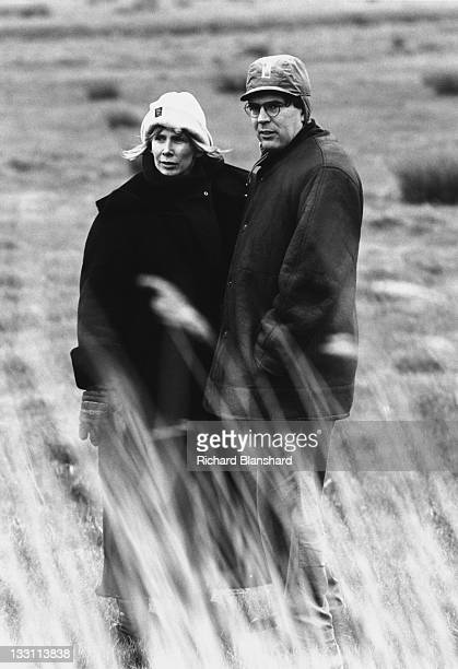 Trudie Styler and director JohnPaul Davidson on the set of the film 'The Grotesque' 1995