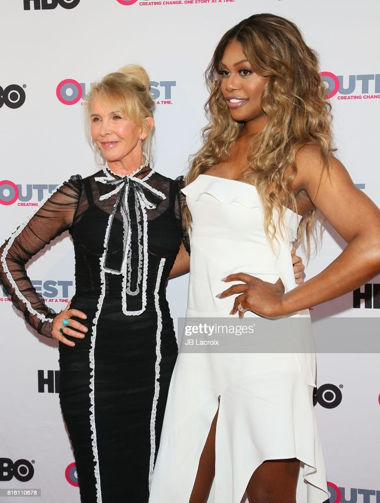 Trudie Styler and Laverne Cox attend the 2017 Outfest Los Angeles LGBT Film Festival - Closing Night Gala Screening Of ''Freak Show' on July 16, 2017 in Los Angeles, California.