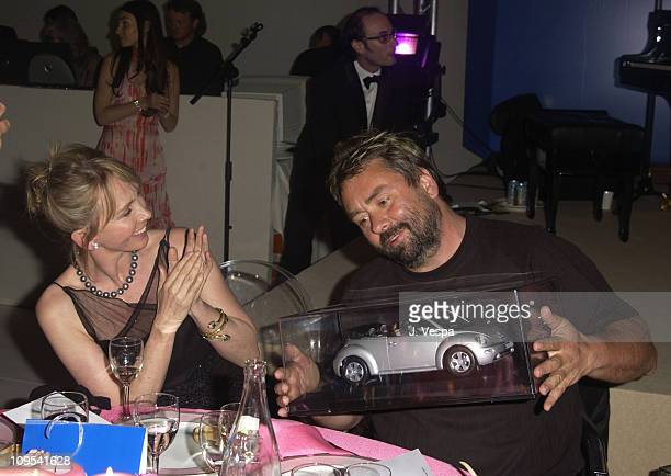 Trudie Styler and Luc Besson with Volkswagen Auction Prize
