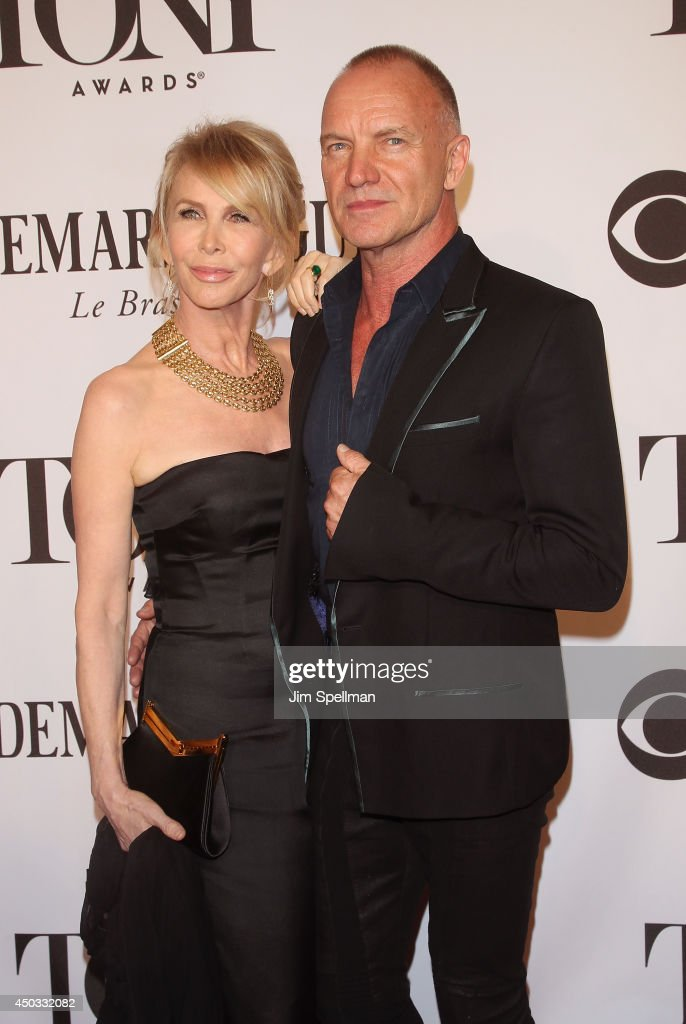 <a gi-track='captionPersonalityLinkClicked' href=/galleries/search?phrase=Trudie+Styler&family=editorial&specificpeople=203268 ng-click='$event.stopPropagation()'>Trudie Styler</a> and <a gi-track='captionPersonalityLinkClicked' href=/galleries/search?phrase=Sting+-+Singer&family=editorial&specificpeople=220192 ng-click='$event.stopPropagation()'>Sting</a> attend American Theatre Wing's 68th Annual Tony Awards at Radio City Music Hall on June 8, 2014 in New York City.