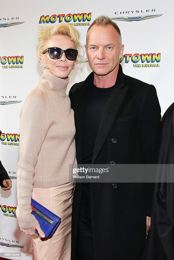 <a gi-track='captionPersonalityLinkClicked' href=/galleries/search?phrase=Trudie+Styler&family=editorial&specificpeople=203268 ng-click='$event.stopPropagation()'>Trudie Styler</a> and Sting attend the Broadway opening night for 'Motown: The Musical' at Lunt-Fontanne Theatre on April 14, 2013 in New York City.
