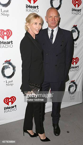 Trudie Styler and Sting attend the Broadway Opening Night performance of 'The Last Ship' at the Neil Simon Theatre on October 26 2014 in New York City