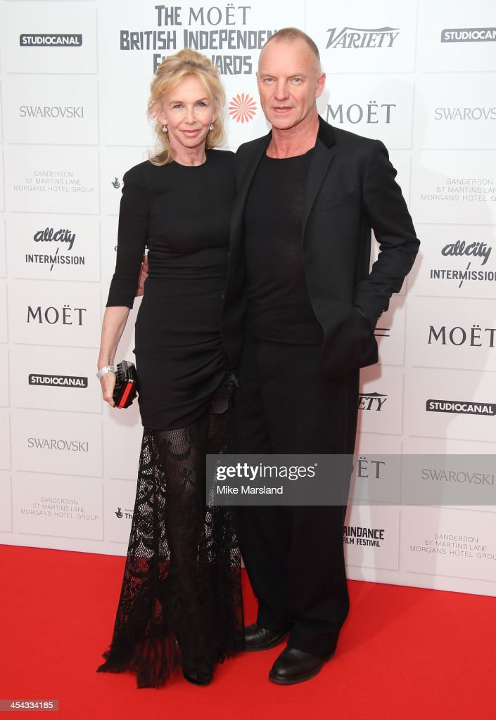 <a gi-track='captionPersonalityLinkClicked' href=/galleries/search?phrase=Trudie+Styler&family=editorial&specificpeople=203268 ng-click='$event.stopPropagation()'>Trudie Styler</a> and Sting attend the Moet British Independent Film Awards at Old Billingsgate Market on December 8, 2013 in London, England.