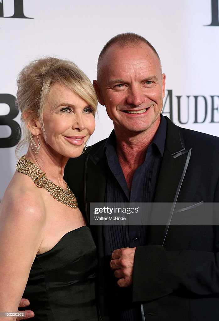 <a gi-track='captionPersonalityLinkClicked' href=/galleries/search?phrase=Trudie+Styler&family=editorial&specificpeople=203268 ng-click='$event.stopPropagation()'>Trudie Styler</a> and <a gi-track='captionPersonalityLinkClicked' href=/galleries/search?phrase=Sting+-+Singer&family=editorial&specificpeople=220192 ng-click='$event.stopPropagation()'>Sting</a> attends American Theatre Wing's 68th Annual Tony Awards at Radio City Music Hall on June 8, 2014 in New York City.
