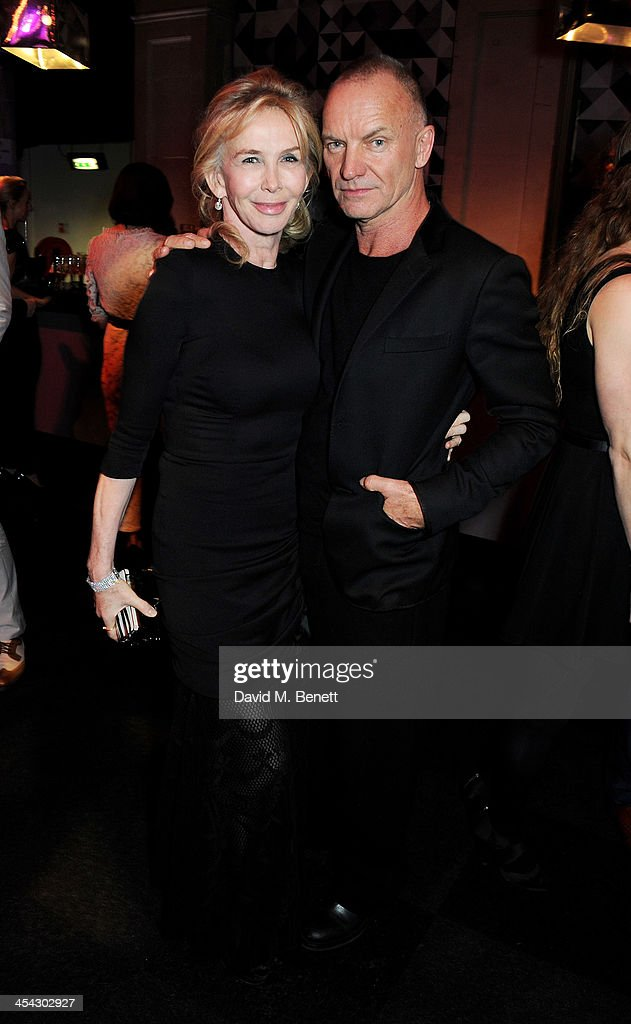 <a gi-track='captionPersonalityLinkClicked' href=/galleries/search?phrase=Trudie+Styler&family=editorial&specificpeople=203268 ng-click='$event.stopPropagation()'>Trudie Styler</a> (L) and Sting attends the Moet Reception at the Moet British Independent Film Awards 2013 at Old Billingsgate Market on December 8, 2013 in London, England.