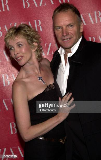 Trudie Styler and Sting during Harpers Bazaar Patry in New York City New York United States