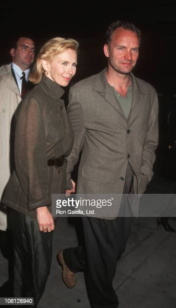 Trudie Styler and Sting during Premiere of 'Moving the Mountain' Benefiting Amnesty International at Sony Theater in New York City New York United...