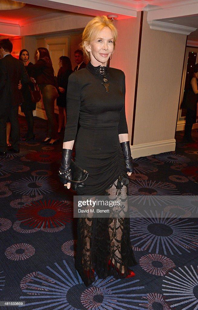 <a gi-track='captionPersonalityLinkClicked' href=/galleries/search?phrase=Trudie+Styler&family=editorial&specificpeople=203268 ng-click='$event.stopPropagation()'>Trudie Styler</a> arrives at the Jameson Empire Awards 2014 at The Grosvenor House Hotel on March 30, 2014 in London, England.