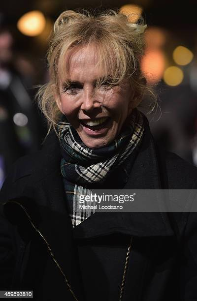 Trudie Styler attends the 88th Annual Macy's Thanksgiving Day Parade day 2 rehearsals on November 25 2014 in New York City