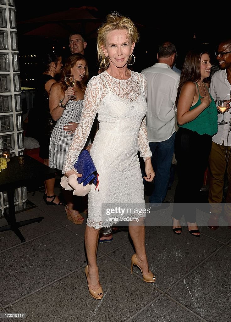 Trudie Styler attends The Cinema Society & Brooks Brothers Host A Screening Of Lionsgate And Roadside Attractions' 'Girl Most Likely' After Party at Hotel Americano on July 15, 2013 in New York City.