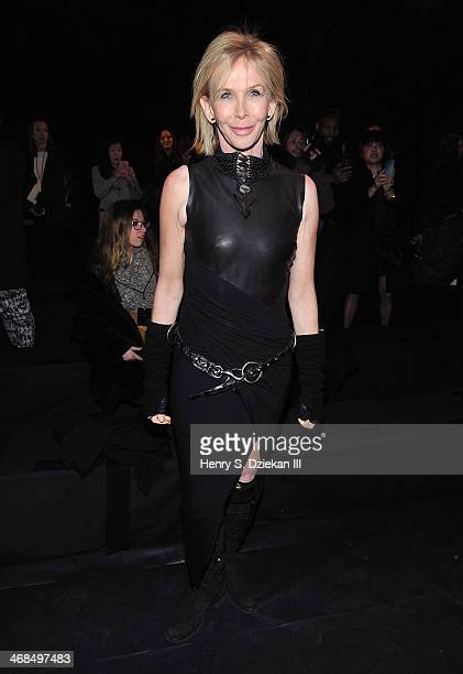 Trudie Styler attends the Donna Karan New York 30th Anniversary Show during MercedesBenz Fashion Week Fall 2014 at 23 Wall Street on February 10 2014...