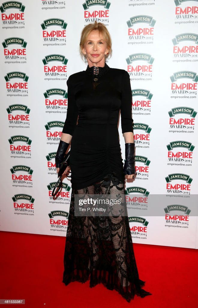 <a gi-track='captionPersonalityLinkClicked' href=/galleries/search?phrase=Trudie+Styler&family=editorial&specificpeople=203268 ng-click='$event.stopPropagation()'>Trudie Styler</a> attends the Jameson Empire Awards 2014 at the Grosvenor House Hotel on March 30, 2014 in London, England. Regarded as a relaxed end to the awards show season, the Jameson Empire Awards celebrate the film industry's success stories of the year with winners being voted for entirely by members of the public. Visit empireonline.com/awards2014 for more information.
