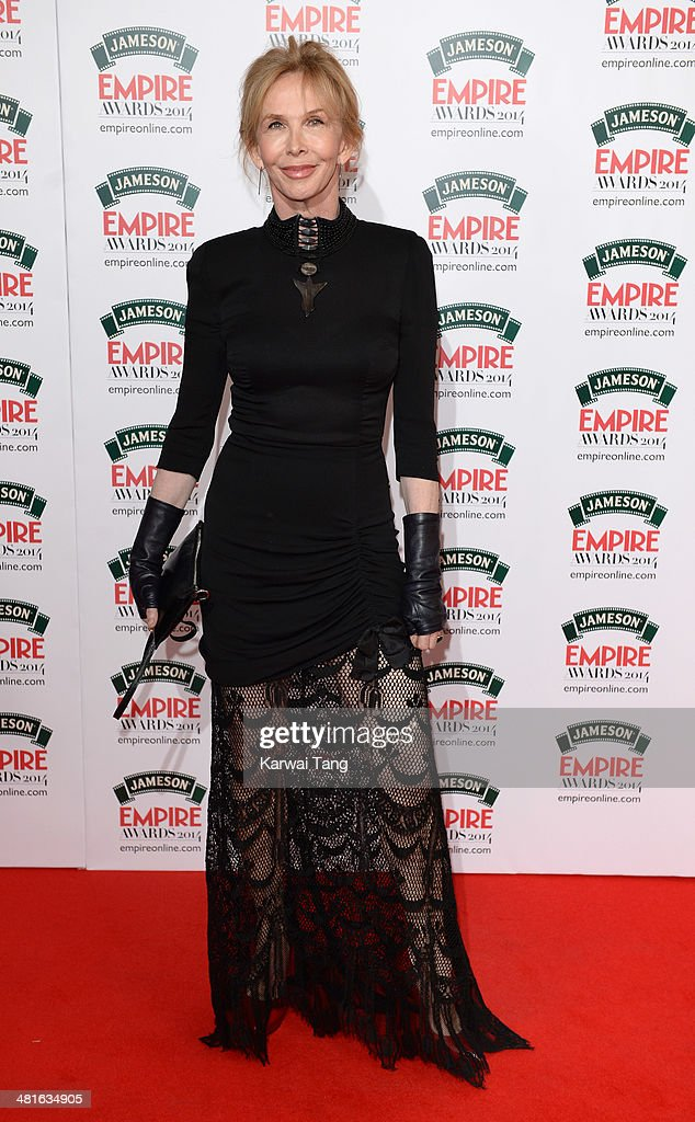 <a gi-track='captionPersonalityLinkClicked' href=/galleries/search?phrase=Trudie+Styler&family=editorial&specificpeople=203268 ng-click='$event.stopPropagation()'>Trudie Styler</a> attends the Jameson Empire Film Awards at Grosvenor House on March 30, 2014 in London, England.