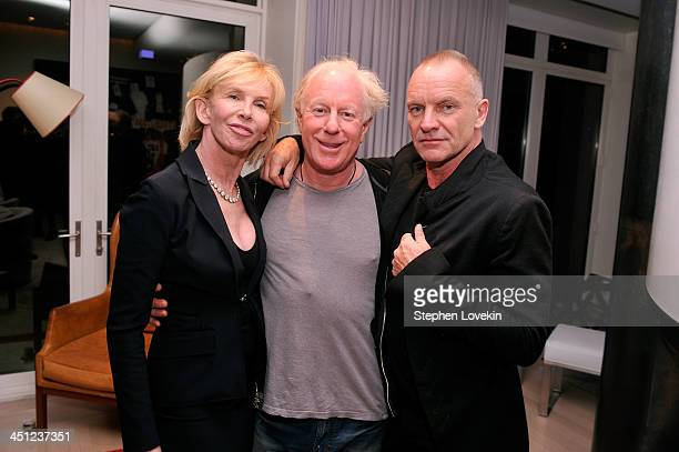 Trudie Styler Bobby Sager and Sting attend Bobby Sager's 'Beyond the Robe' book party on November 21 2013 in New York City