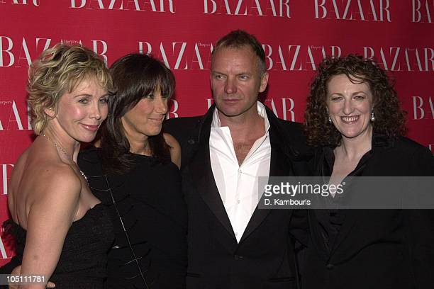 Trudie Styler Donna Karan Sting and Glenda Bailey