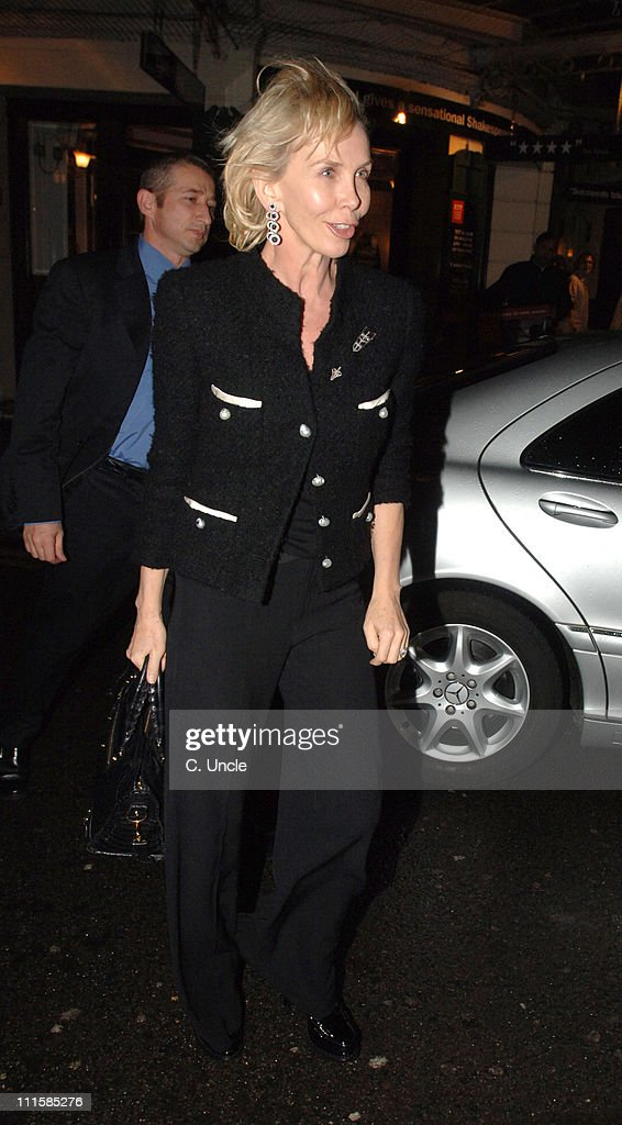 Trudie Styler during Celebrity Sightings at The Ivy in London - March 8, 2006 at Ivy Restaurant in London, Great Britain.