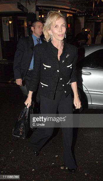 Trudie Styler during Celebrity Sightings at The Ivy in London March 8 2006 at Ivy Restaurant in London Great Britain