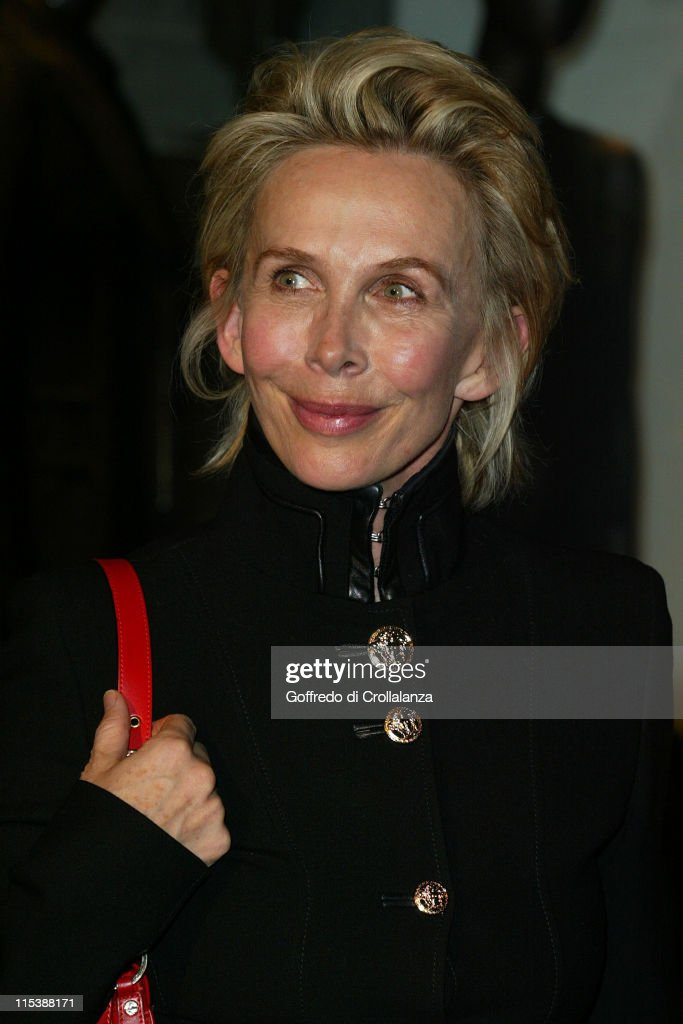 Trudie Styler during Versace Store Relaunch Party at Versace Sloane Street in London, Great Britain.