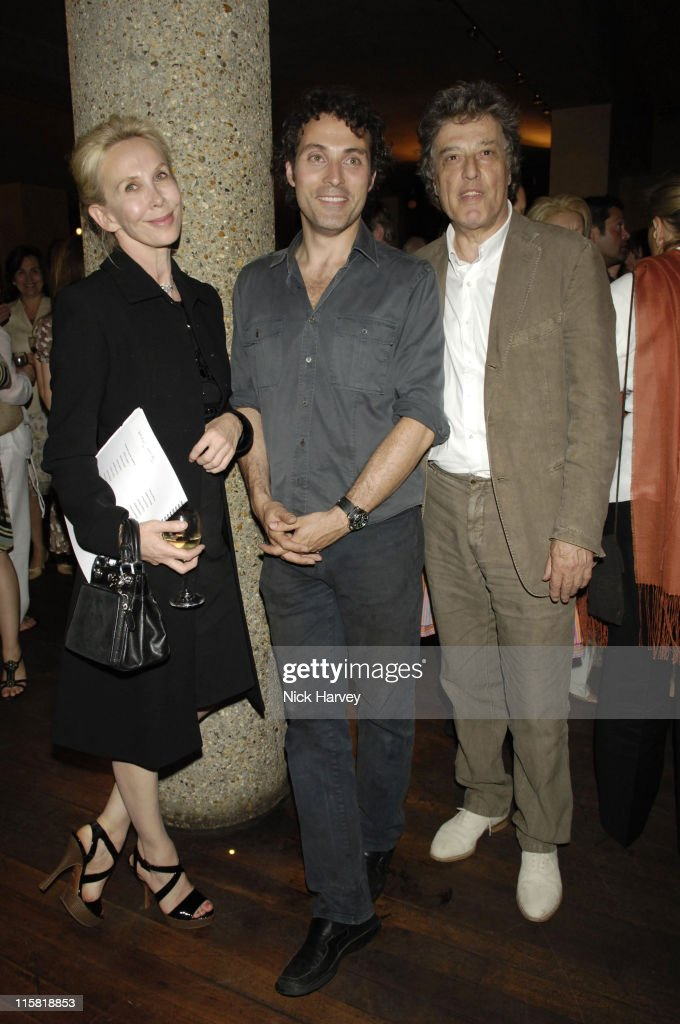 Trudie Styler, Rufus Sewell and Sir Tom Stoppard during Cries from the Heart 2006: A Celebration of Voices for Justice in Support of Human Rights Watch June 18, 2006 at Cries from the Heart, 2006, a celebration of voices for justice in London, Great Britain.