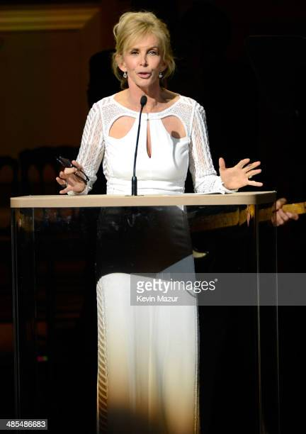 Trudie Styler speaks onstage during The 2014 Revlon Concert For The Rainforest Fund at Carnegie Hall on April 17 2014 in New York City
