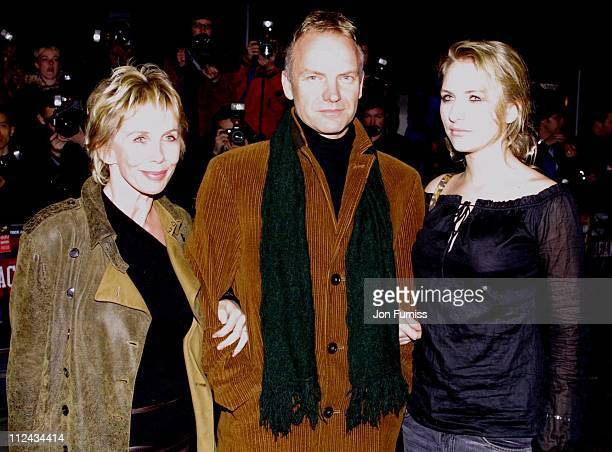 Trudie Styler Sting and guest during 'Mean Machine' Premiere London Outside Arrivals at Odeon Leicester Square in London Great Britain