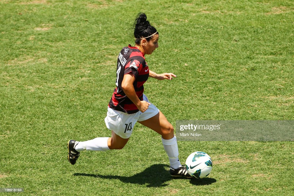 Trudy Camilleri of the Wanderers in action during the round six W-League match between the Western Sydney Wanderers and the Newcastle Jets at Campbelltown Sports Stadium on November 25, 2012 in Sydney, Australia.